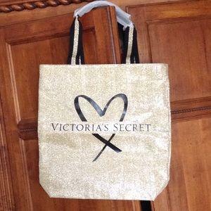 Victoria Secrets gold tote